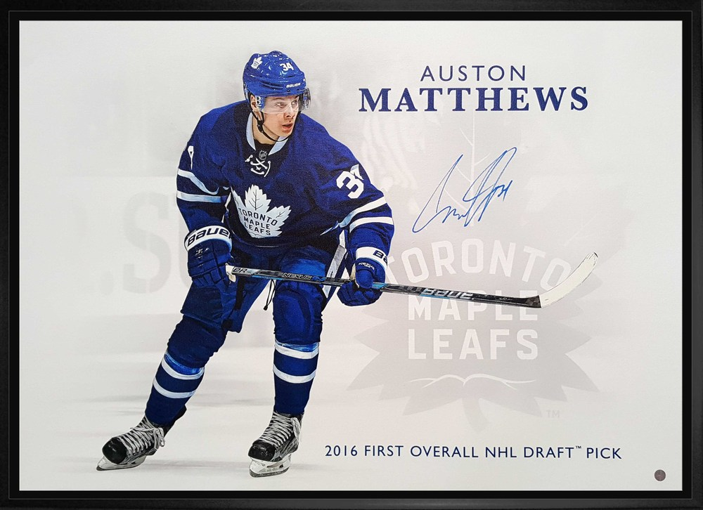 Auston Matthews - Signed & Framed 20x29