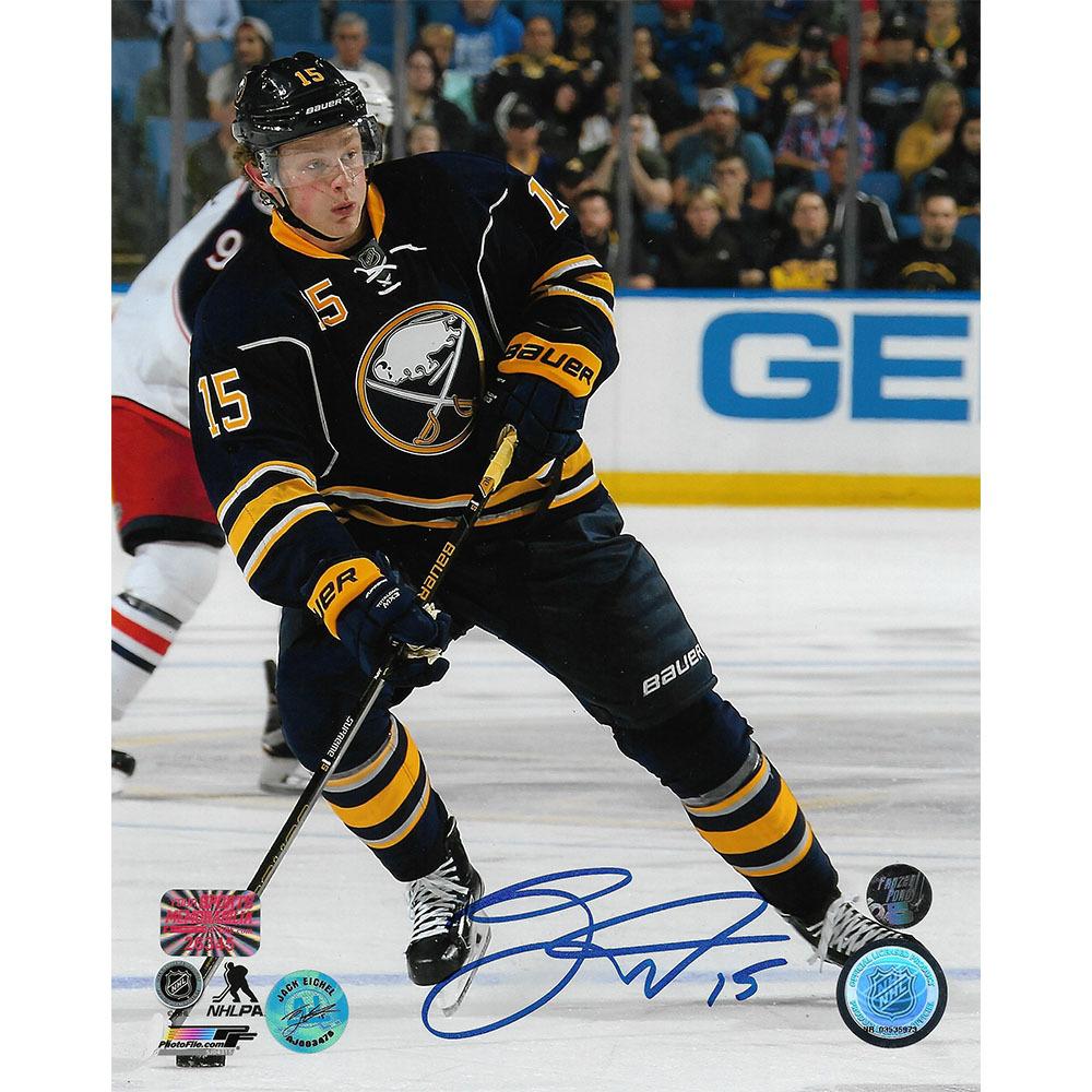 Jack Eichel Autographed Buffalo Sabres 8X10 Photo