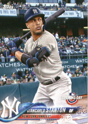 Photo of 2018 Topps Opening Day #60 Giancarlo Stanton
