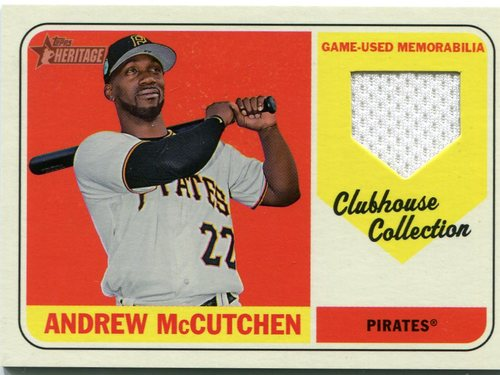 Photo of 2018 Topps Heritage Clubhouse Collection Relics #CCRAM Andrew McCutchen