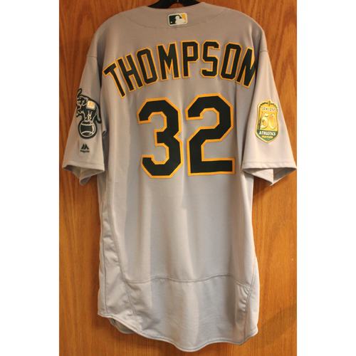 Photo of Trayce Thompson 2018 Game-Used Jersey