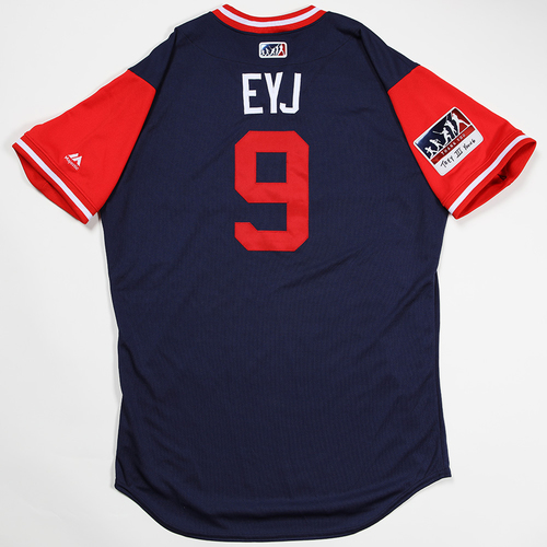 "Photo of Eric ""EYJ"" Young Jr. Los Angeles Angels Game-Used 2018 Players' Weekend Jersey"
