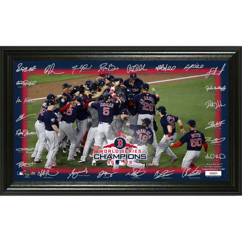 "Photo of Boston Red Sox 2018 World Series Champions ""Celebration' Signature Field"