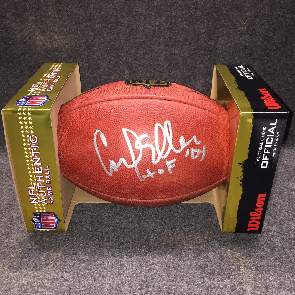 PCF - Vikings Carl Eller signed authentic football