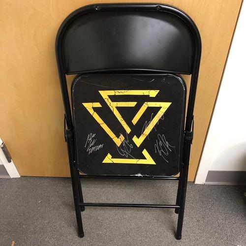 Photo of Undisputed Era USED & SIGNED Steel Chair (WarGames II - 11/17/19)