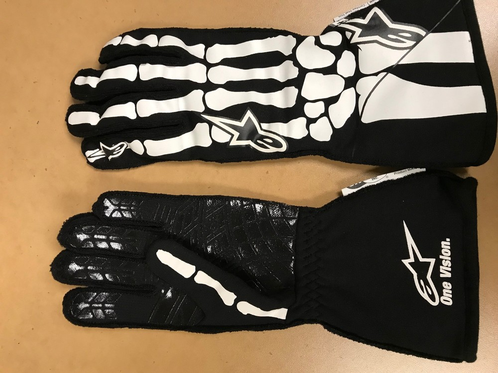 2019 Race-Worn, Christopher Bell Autographed Driven to Give Gloves in support of The Dale and Amy Earnhardt Fund at Nationwide Children's Hospital