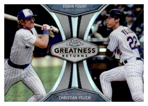 Photo of 2019 Topps Chrome Greatness Returns #GRE9 Robin Yount/Christian Yelich
