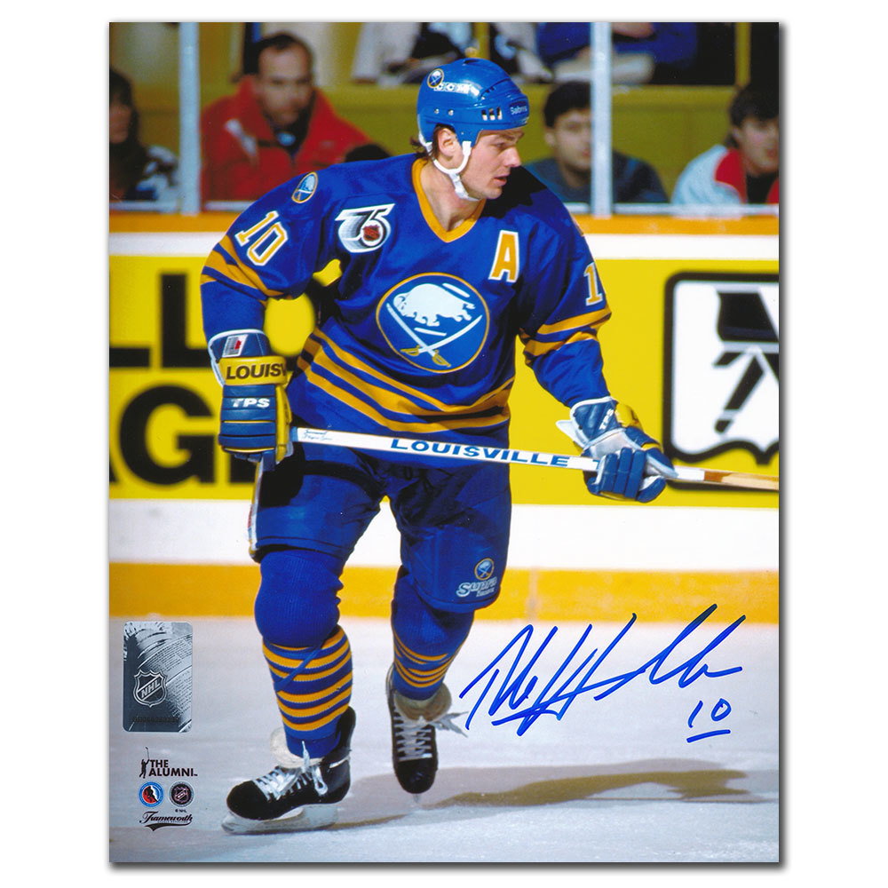 Dale Hawerchuk Buffalo Sabres ACTION Autographed 8x10