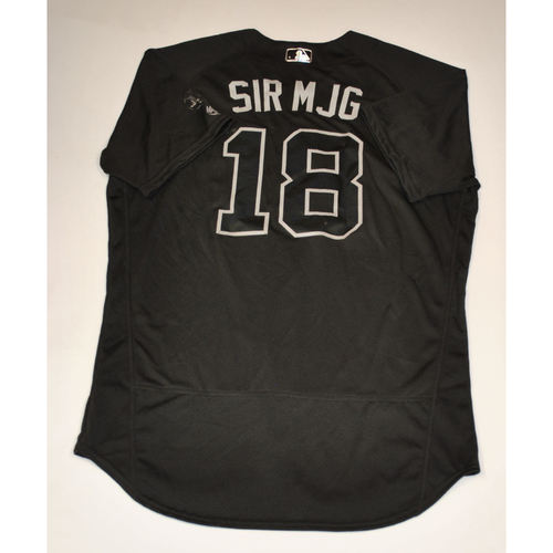 "Photo of Didi ""SIR MJG"" Gregorius New York Yankees Game-Used 2019 Players' Weekend Jersey"