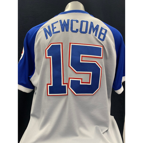 Photo of Sean Newcomb Game-Worn 1974 Throwback Jersey