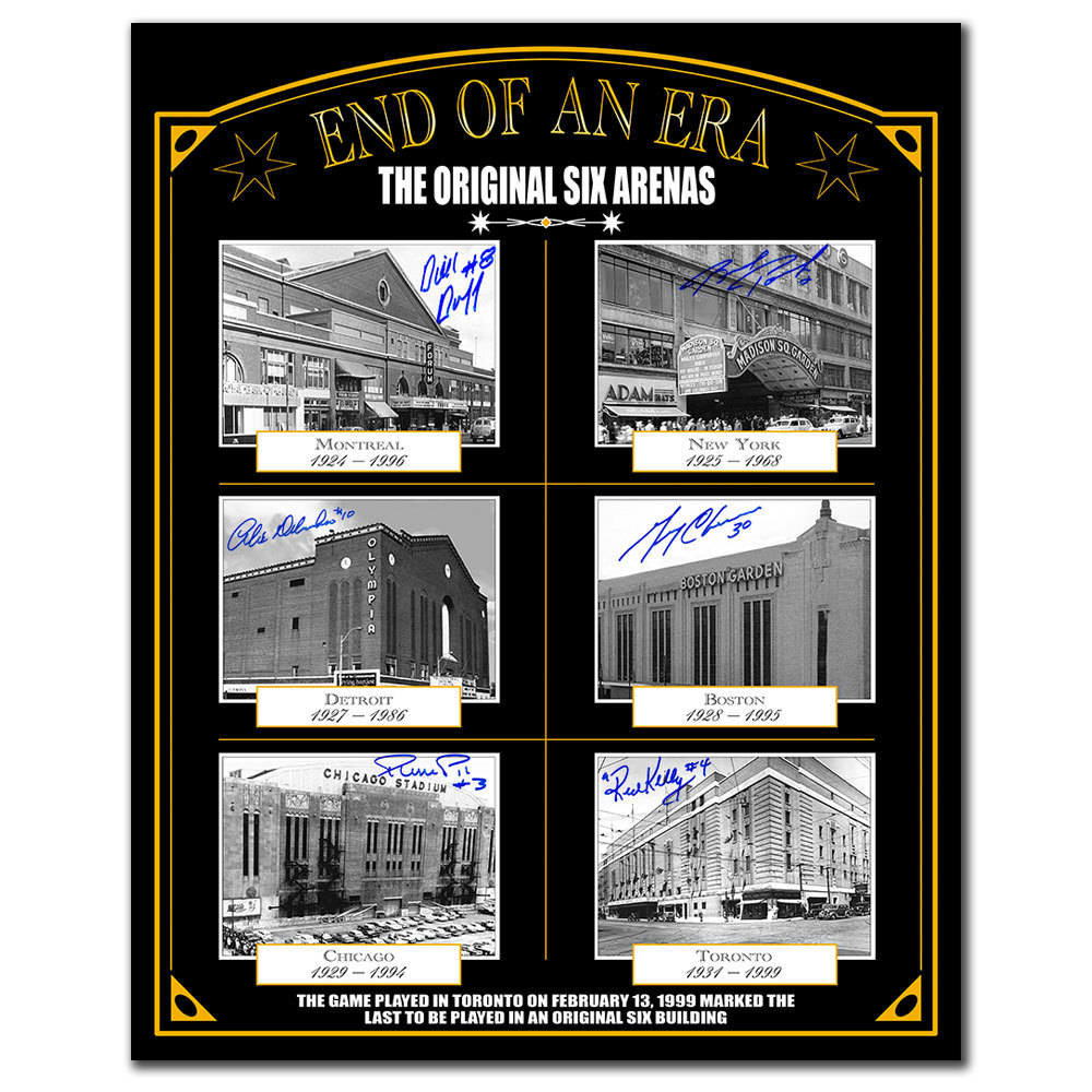 End Of An Era Original Six Arenas Autographed 16x20 Signed by 6