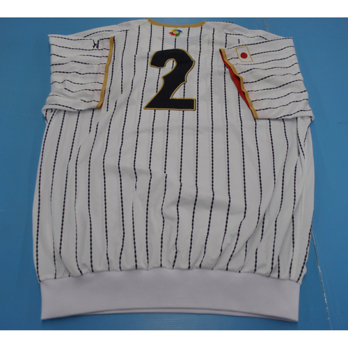 Photo of Game-Used Batting Practice Jersey - 2017 World Baseball Classic - Japan - Kosuke Tanaka - XL