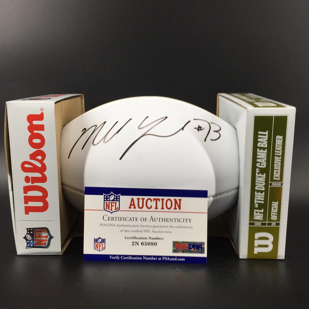 NFL - Ravens Marshal Yanda Signed Panel Ball w/ 100 seasons logo