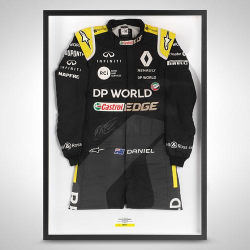 Photo of Daniel Ricciardo 2020 Framed Signed Race-worn Race Suit - Portuguese Grand Prix
