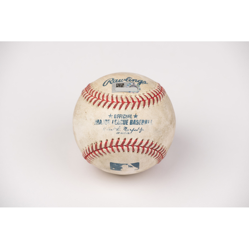 Photo of Game Used Baseball: Pitcher: Felix Pena, Batter: Mookie Betts - Home Run - Top 7 - 8-15-2020 vs. LAD