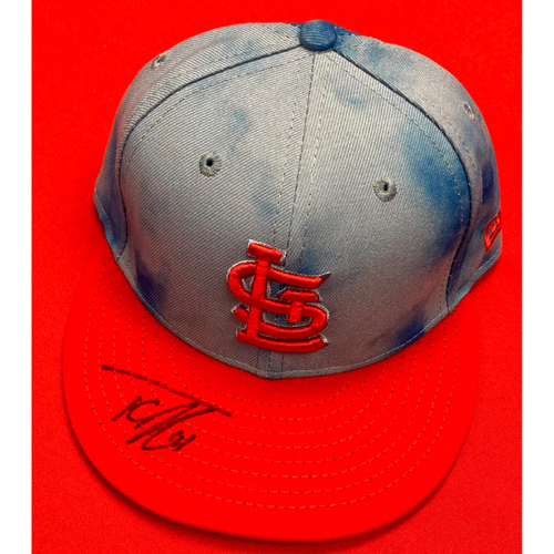 Photo of Tyler O'Neill Autographed Team Issued Father's Day Cap (Size 7 1/4)