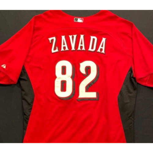 Photo of ZAVADA -- Authentic Reds Jersey -- $1 Jersey Auction -- $5 Shipping -- Size 46 (Not MLB Authenticated)