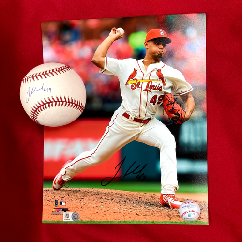Photo of Jordan Hicks Autographed Baseball and Photo