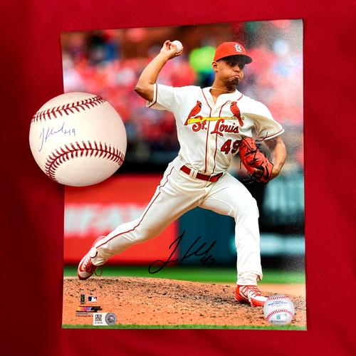 Jordan Hicks Autographed Baseball and Photo