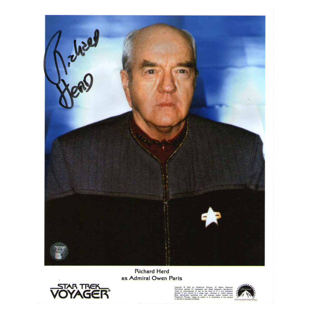 Star Trek Pozostałe Richard Herd as Admiral Owen Paris AUTOGRAPHED ...