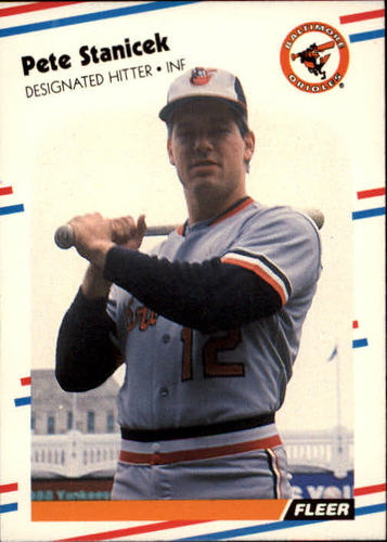 Photo of 1988 Fleer #573 Pete Stanicek