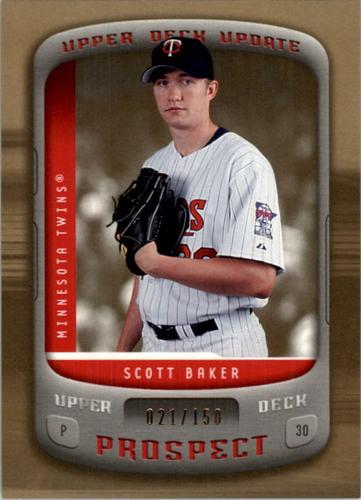 Photo of 2005 Upper Deck Update Gold #160 Scott Baker PR