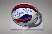 BILLS - AARON WILLIAMS SIGNED BILL MINI HELMET