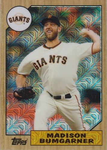 Photo of 2017 Topps '87 Topps Silver Pack Chrome #87MB Madison Bumgarner