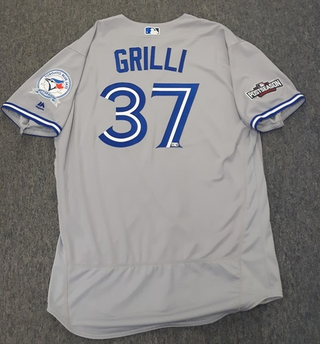 Photo of Authenticated Team Issued 2016 Postseason Jersey - #37 Jason Grilli. Size 50.