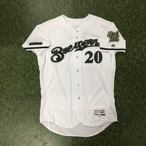 Photo of Wade Miley Team-Issued 2018 Memorial Day Jersey