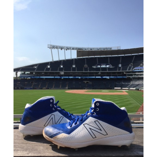 Photo of Autographed Game-Used Danny Duffy Cleats - 8/5/18