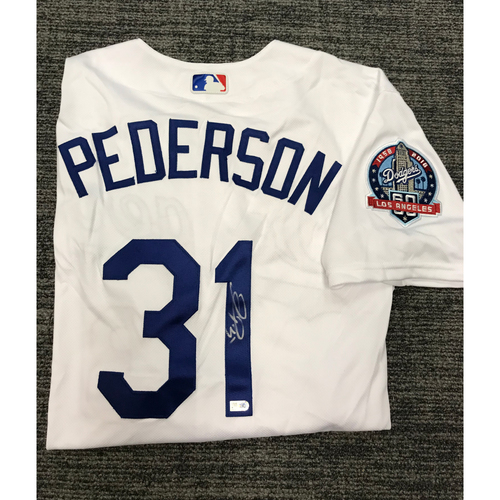 Photo of Los Angeles Dodgers Foundation Online Auction: Joc Pederson Authentic Autographed Los Angeles Dodgers Jersey