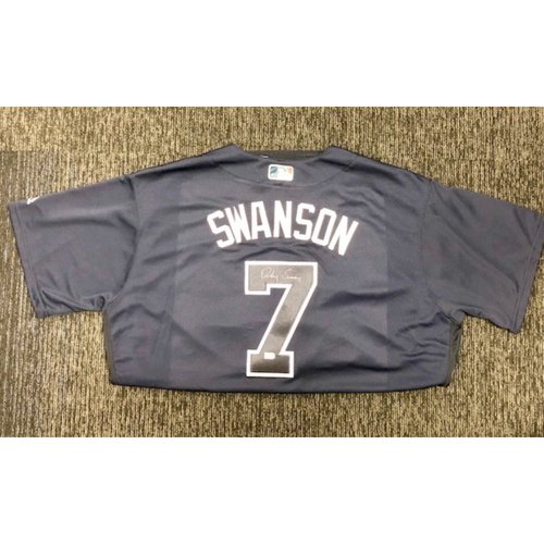 Photo of Dansby Swanson Autographed Jersey