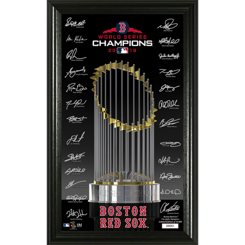 Photo of Boston Red Sox 2018 World Series Champions Signature Trophy