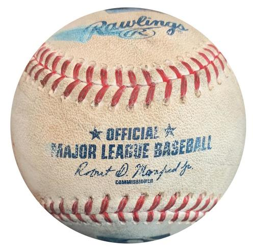 Photo of Game-Used Baseball from Pirates vs. Dodgers on 6/27/16 - Adrian Gonzalez Single