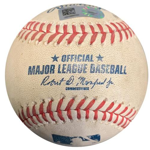 Photo of Game-Used Baseball from Pirates vs. Reds on 9/8/16 - Josh Harrison Double