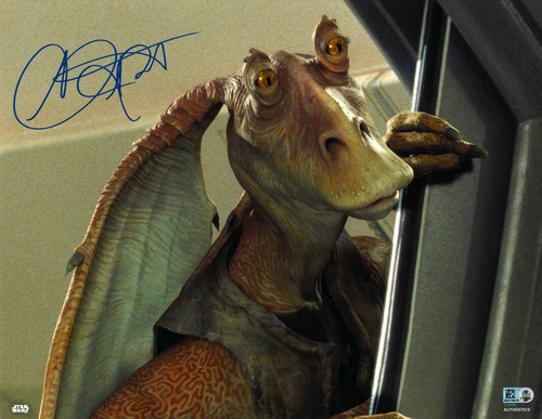 Ahmed Best As Jar Jar Binks 11X14 Autographed IN 'BLUE' INK PHOTO