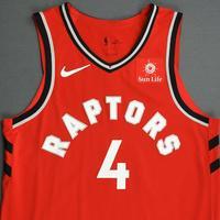 Lorenzo Brown - Toronto Raptors - 2018-19 Season - Canada Series - Game-Worn Red Icon Edition Jersey