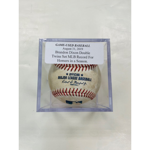 Photo of Game-Used Baseball: Brandon Dixon Double-Minnesota Twins Set MLB Record for Home Runs in a Season