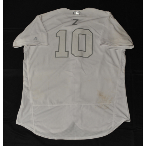 "Photo of Mike ""Z"" Zunino Tampa Bay Rays Game-Used 2019 Players' Weekend Jersey"