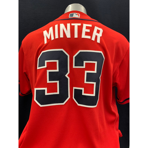 Photo of A.J. Minter Game-Worn Los Bravos Jersey