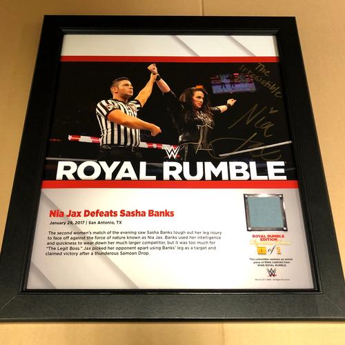 Nia Jax SIGNED Royal Rumble 2017 Signature Series Frame (1 of 1)