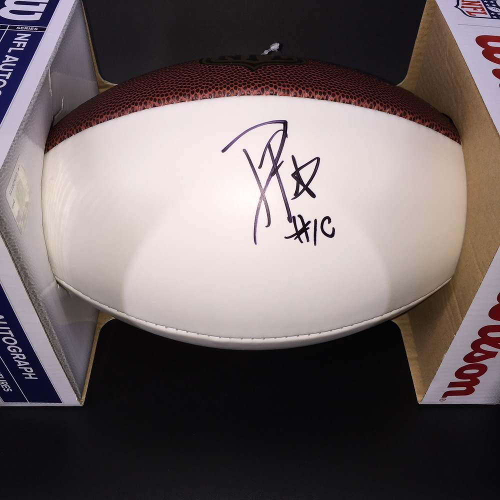 NFL - COLTS WR DAURICE FOUNTAIN SIGNED PANEL BALL