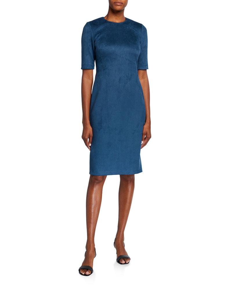 Photo of Scuba Faux-Suede Sheath Dress