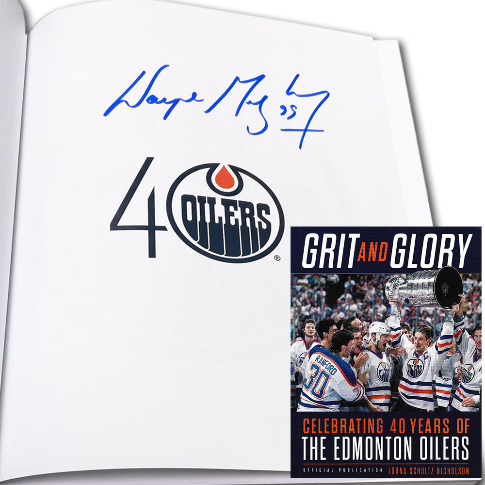 Wayne Gretzky Autographed Grit and Glory Hardcover Book