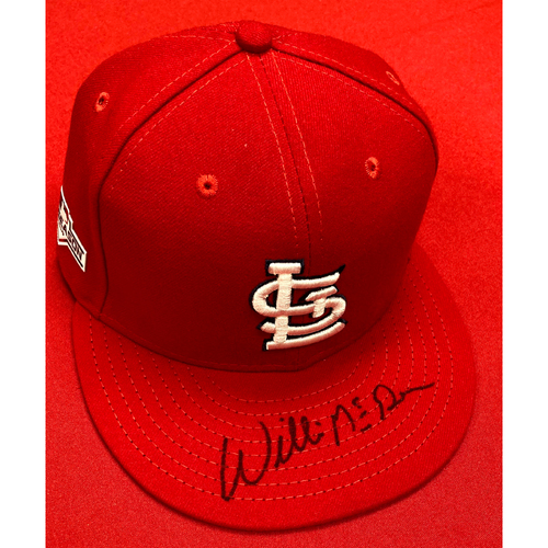 Willie McGee Autographed Team Issued Home Cap w/ 2019 Postseason Patch (Size 7 3/8)