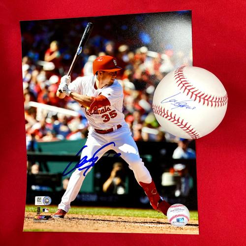 Lane Thomas Autographed Baseball and Photo