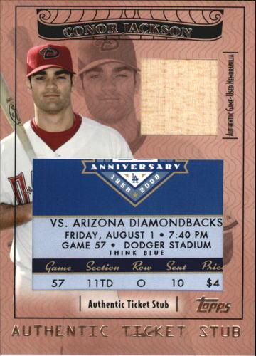 Photo of 2009 Topps Ticket to Stardom Ticket Stubs Plus Memorabilia #TSP27 Conor Jackson/81