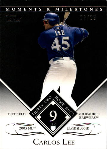 Photo of 2007 Topps Moments and Milestones Black #145-9 Carlos Lee/HR 9