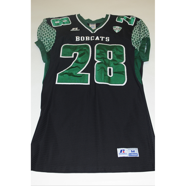 Photo of # 28 - Official OHIO BOBCATS Game Worn Football Jersey (2011) - SIZE MEDIUM